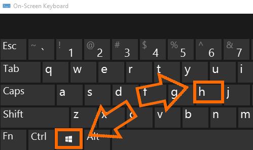 chụp ảnh màn hình voi to hop windows + h
