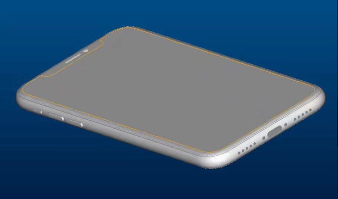 bản vẽ CAD của iPhone 8
