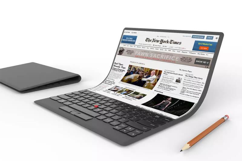 Xuất hiện phiên bản concept của laptop Lenovo màn hình cong