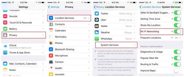Lỗi wi-fi trên iPhone