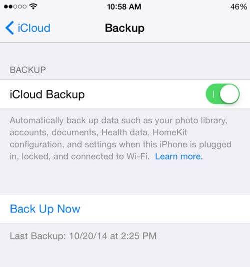 Cách sao lưu tin nhắn trên iPhone