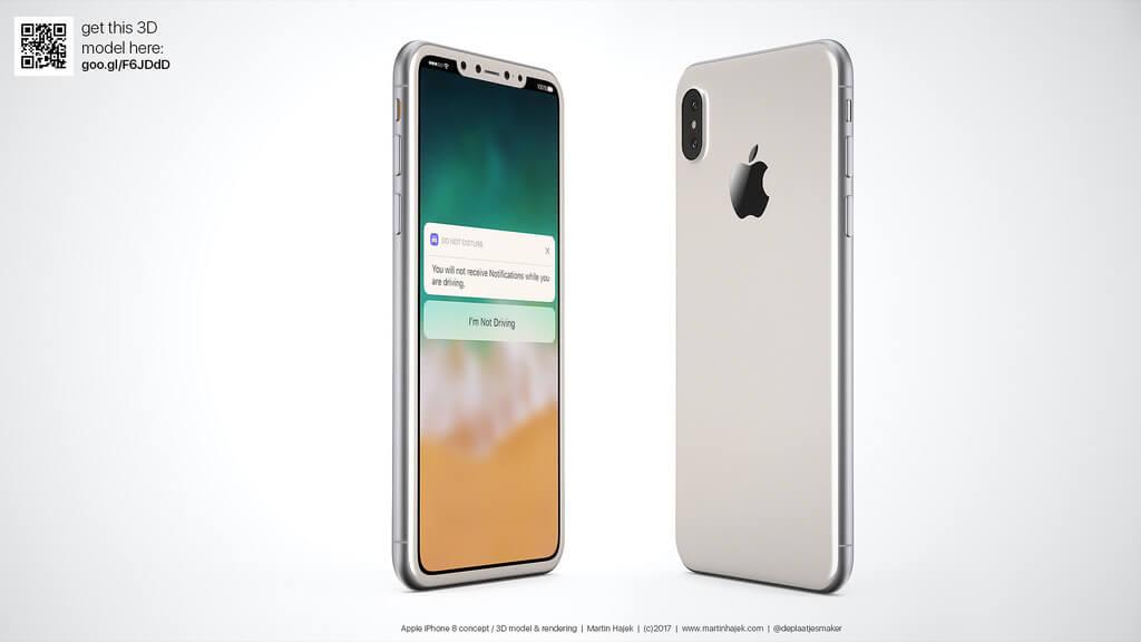 Độc đáo bản concept iPhone 8 hai màu đen trắng đẹp lung linh. Bạn sẽ chọn màu nào?