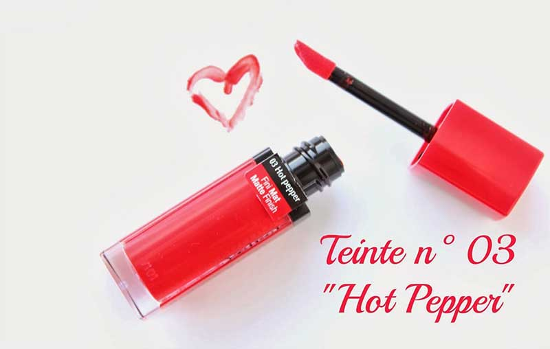 Son BOURJOIS Rouge Velvet Edition màu 03 – Hot Pepper đỏ thời thượng
