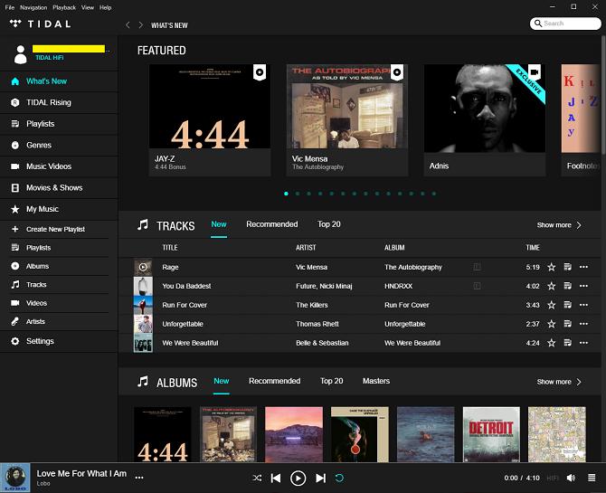 Bạn có thể dễ dàng nhận biết ưu điểm vượt trội về chất lượng nhạc của Tidal so với các đối thủ như Apple Music hay Spotify, song đó cũng là lợi thế duy nhất từ dịch vụ này.