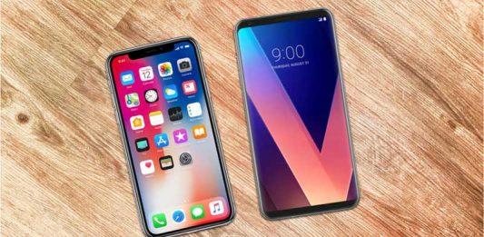 So sánh iPhone X với LG V30