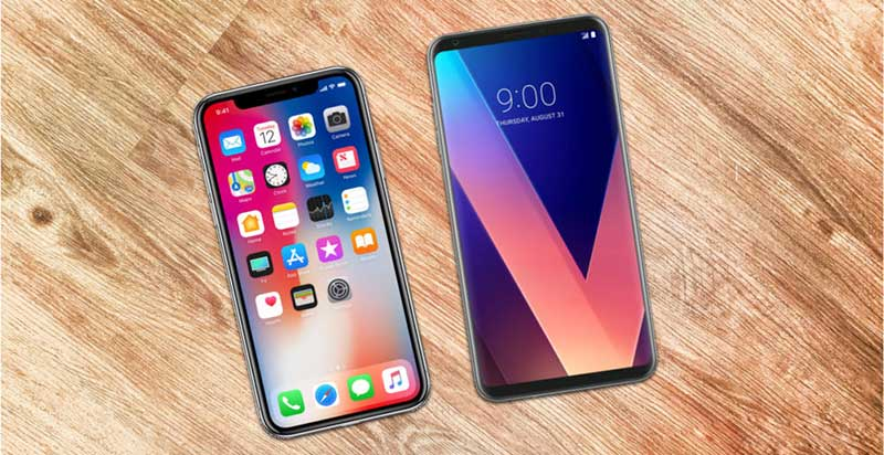 So sánh iPhone X với LG V30