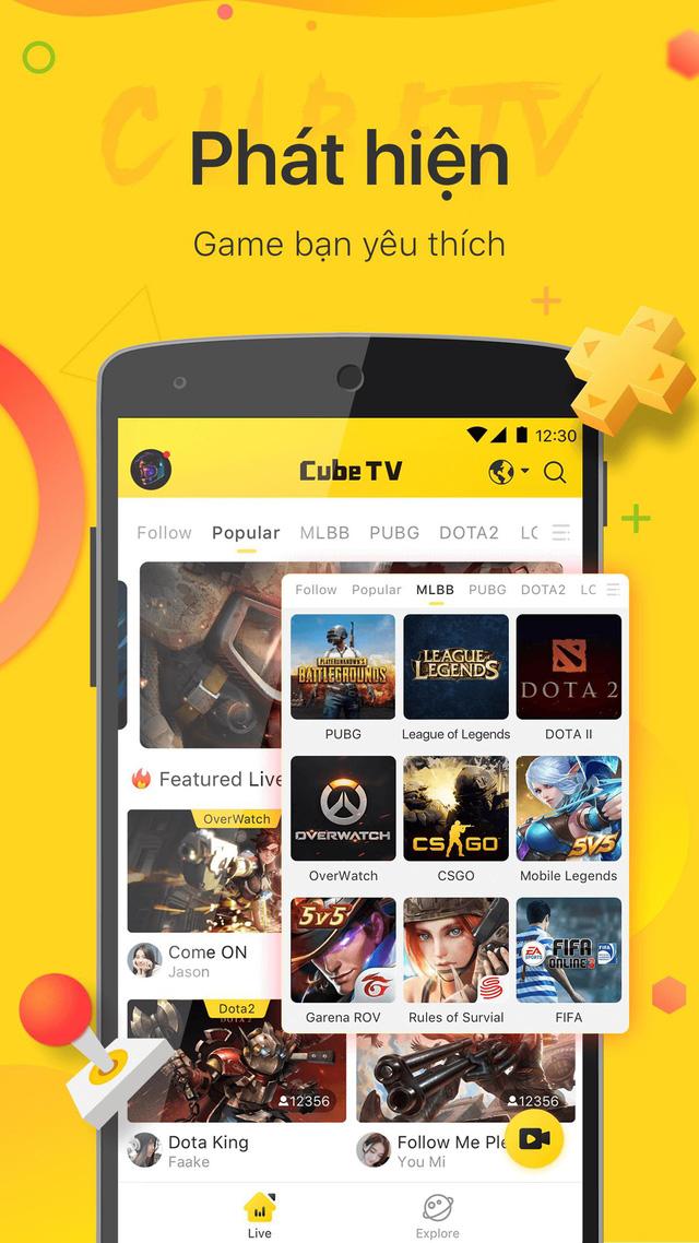 CUBE TV - Kênh stream game mới cực chất dành cho game thủ Việt