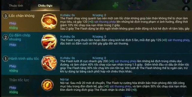 Bộ kỹ năng của The Flash