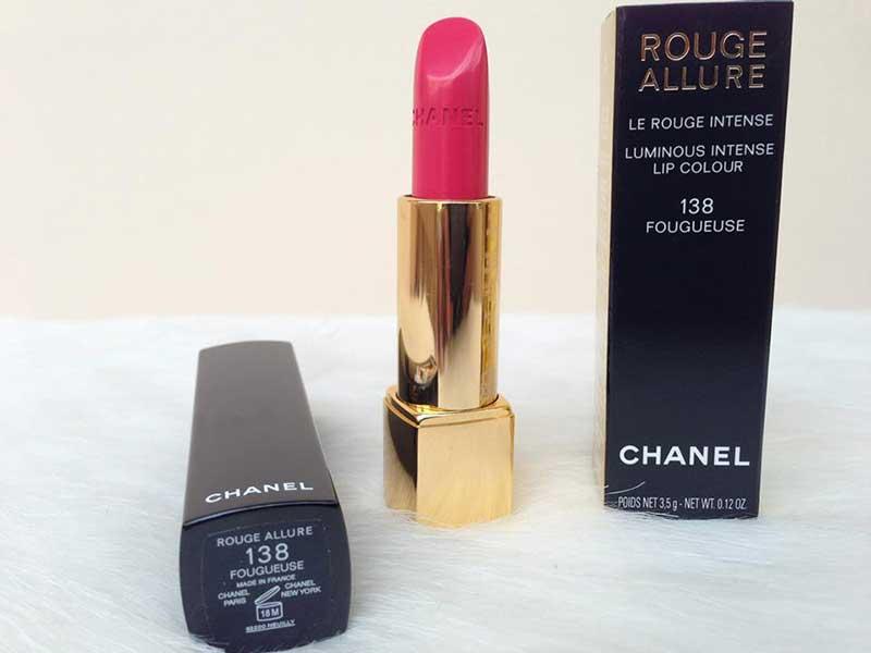 Son CHANEL màu 138 FOUGUEUSE dòng Rouge Allure