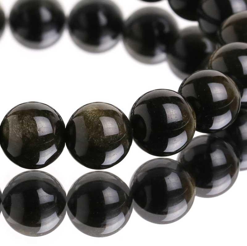 Vòng tay đá phong thủy Obsidian
