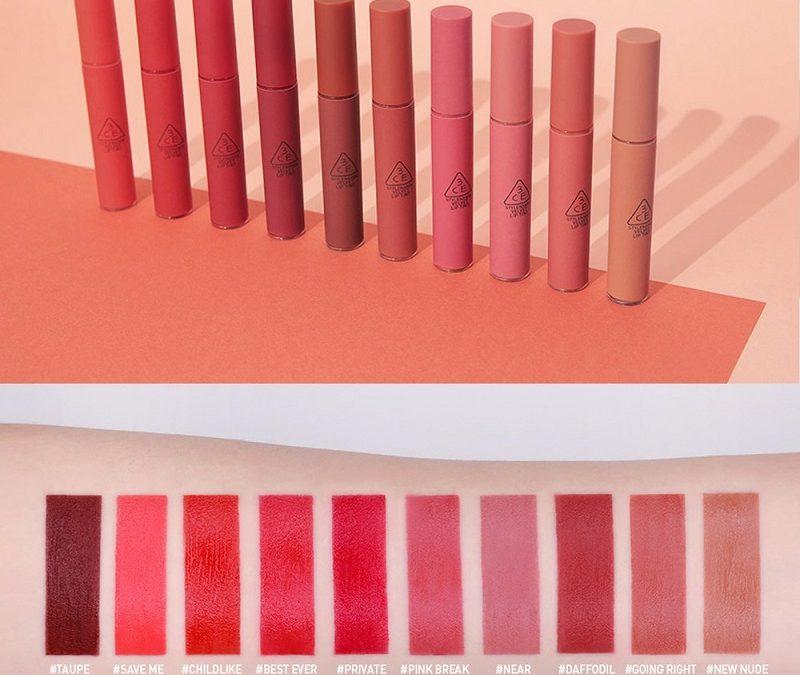 Son Kem Lì 3CE Velvet Lip Tint Vừa Ra 10 Màu Hot